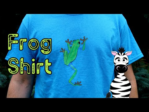 Red Eyed Tree Frog on a Shirt Acrylic Nail Art Tutorial thumbnail