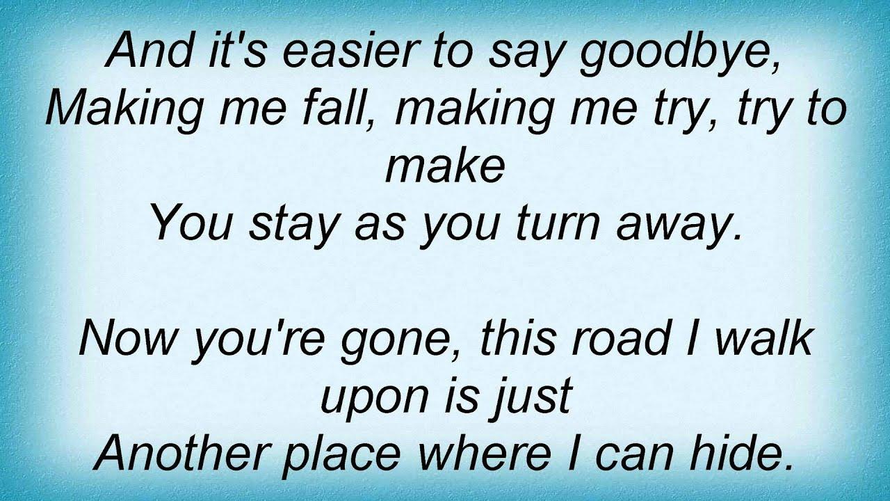 Bee Gees - Baby As You Turn Away Lyrics | MetroLyrics