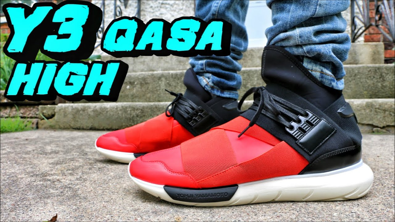 6df716eed43d0 Y3 Qasa High Red Black Sail - Review + On Foot - YouTube