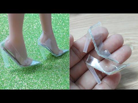 diy mini glass shoes | 미니어쳐  유리구두 만드는 방법 | | Tự làm giày búp bê mini thủy tinh trong suốt nhỏ xinh