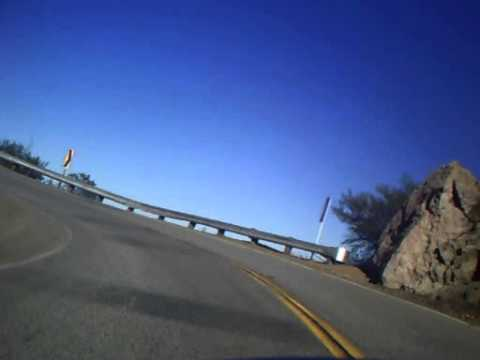 "Riding a SV 650 on ""The Snake"" Mulholland highway"
