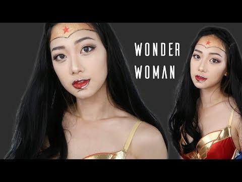 Wonder Woman DC Comic Inspired Makeup 漫畫版神力女超人玩妝