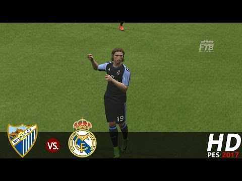 PES 2017 | Malaga vs Real Madrid | All Goals & Extended Highlights