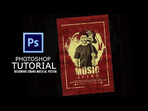 Photoshop Tutorial-How to create Grunge (Retro)  Musical Poster