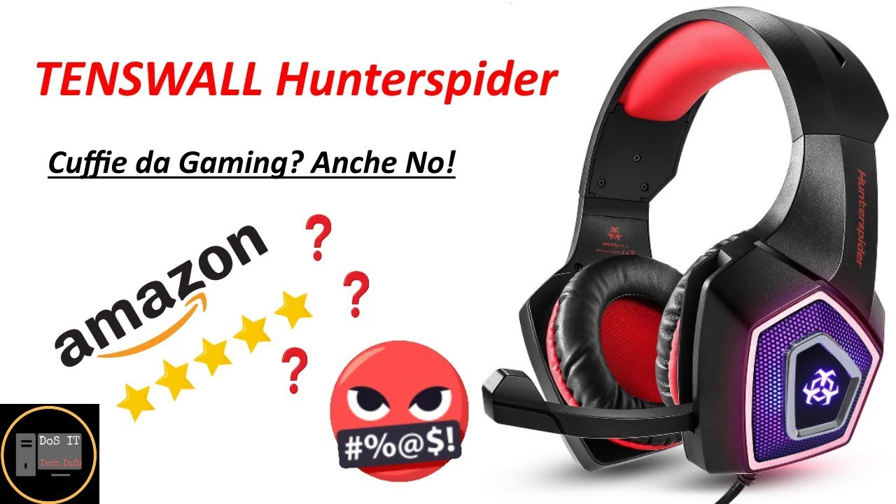 TENSWALL Hunterspider Series   cuffie gaming, ma anche no!