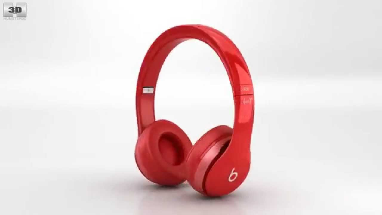 a680296c6c5 Beats by Dr. Dre Solo2 On-Ear Headphones Red by 3D model store Humster3D.com