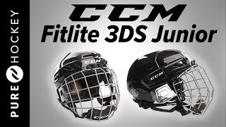 CCM FitLite 3DS Junior Hockey Helmet Combo | Product Review
