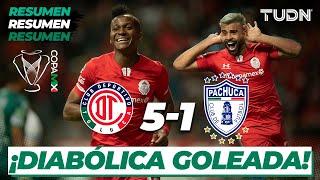 Resumen y Goles | Toluca 5 - 1 Pachuca | Copa Mx 2020 - Cuartos de Final | TUDN