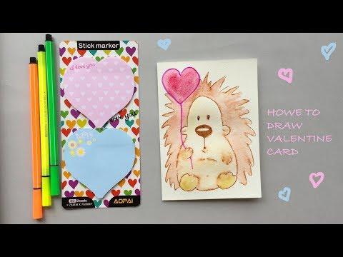 DIY How To Draw Valentine Card