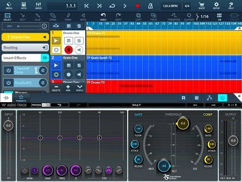 CUBASIS 2.3 - Let's Explore The WAVES AUDIO TRACK - Tutorial for the iPad