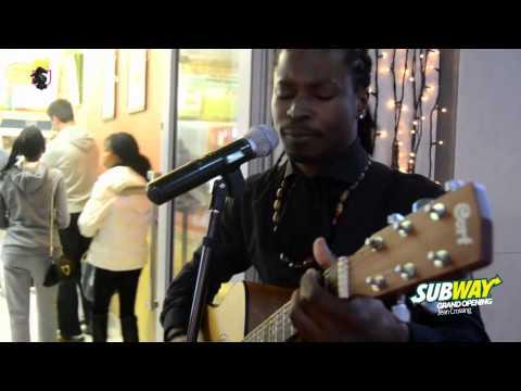 Millionsworth - Tebogo Louw performing at Subway Grand Opening