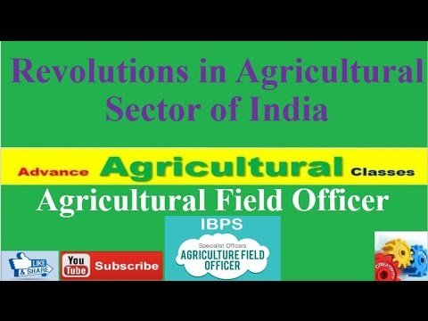 Revolutions in Agricultural Sector of India (Hindi/English)