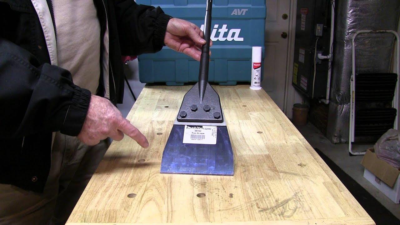 Makita SDSMax Floor Scraper Model T YouTube - Sinclair floor scraper