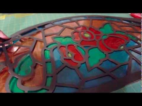 Faux Stained Glass Window Youtube