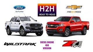 H2H #95 Ford WILDTRAK vs Chevrolet COLORADO Z71