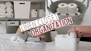 Linen Closet Organization Tips // Tackle it Tuesday // The Mom Life Balance
