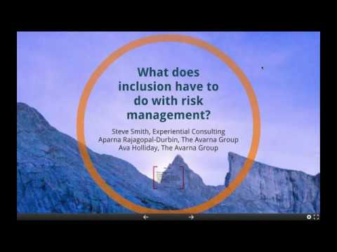 What does inclusion have to do with risk management?