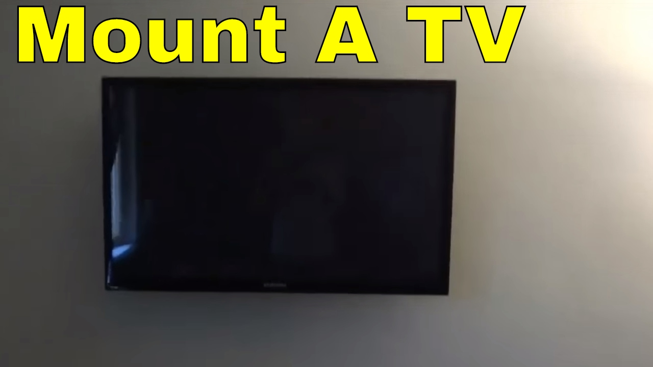 how to mount a tv on the wall swivel mount youtube. Black Bedroom Furniture Sets. Home Design Ideas