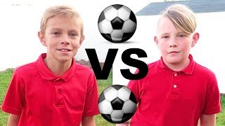 ⚽️BEST FRIENDS After School Soccer Challenge!⚽️