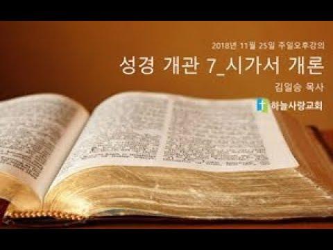 성경개관7 시가서 개론