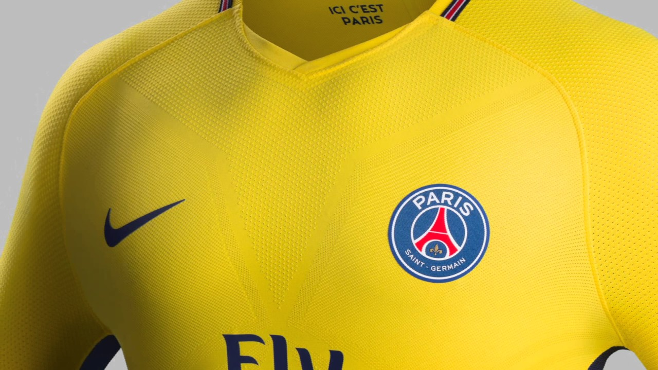 Maillot psg ext rieur 2017 2018 youtube for Psg exterieur 2018