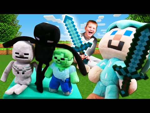 Майнкрафт в реале - Зомби против Стива - Прикольное видео майнкрафт