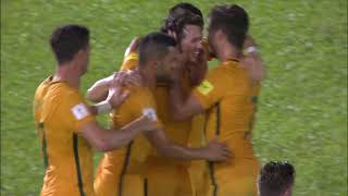 brilliant work from robbie kruse gives australia a crucial away goal