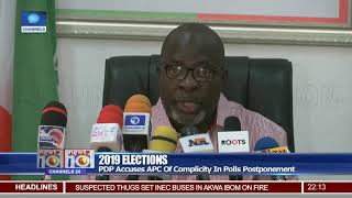 PDP Accuses APC Of Complicity In Polls Postponement