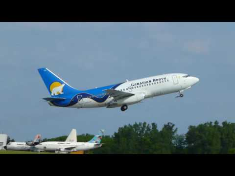 Compilation of Canadian North & First Air Boeing 737-200 departing Ottawa Int'l Airport [CYOW / YOW]
