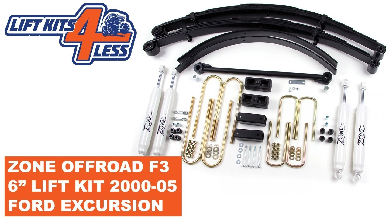 Zone Offroad F  Lift Kit   Ford Excursion