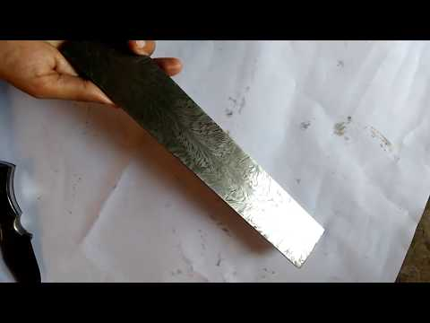 Damascus Billet Ladder Pattern Layer High Carbon Knives Knife Custom Blade Steel