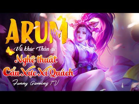 LIÊN QUÂN   Trải nghiệm Skin mới Bậc SS Arum - Vũ Khúc Thần Sứ cùng FUNNY GAMING TV