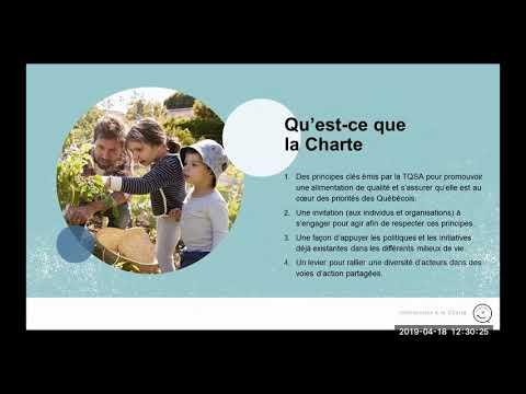 Charte - TQSA - Table québécoise sur la saine alimentation
