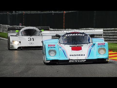Group C Cars Racing at Spa-Francorchamps with 3D Binaural Audio!!