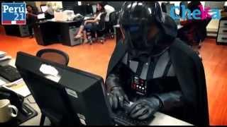 Darth Vader en la redacción de Peru.21