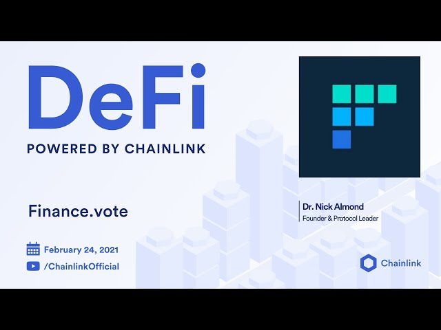Finance.vote and Chainlink Live Q&A: Using Oracles for Quadratic Governance and Prediction  Markets