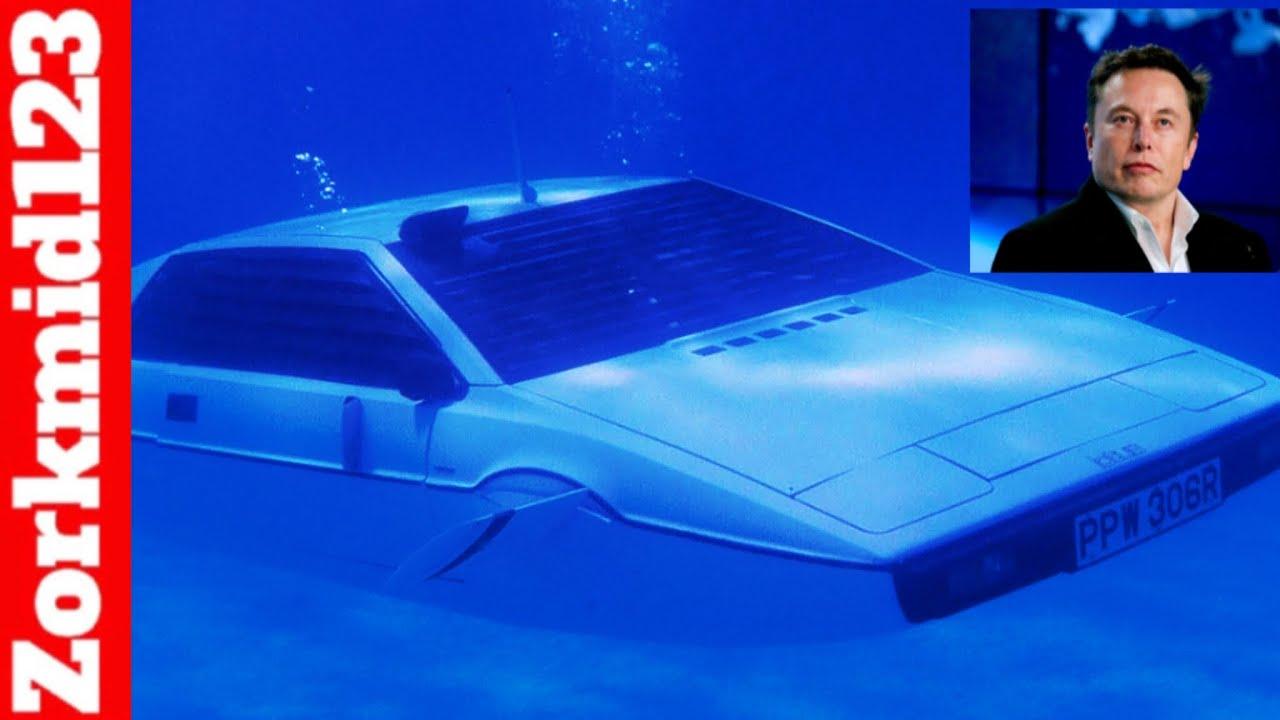 Elon Musk Wants To Build A Submarine Tesla Car James Bond