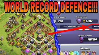 Insane HIGHEST DEFENCE WON IN COC/SEASON - WORLD RECORD!!!