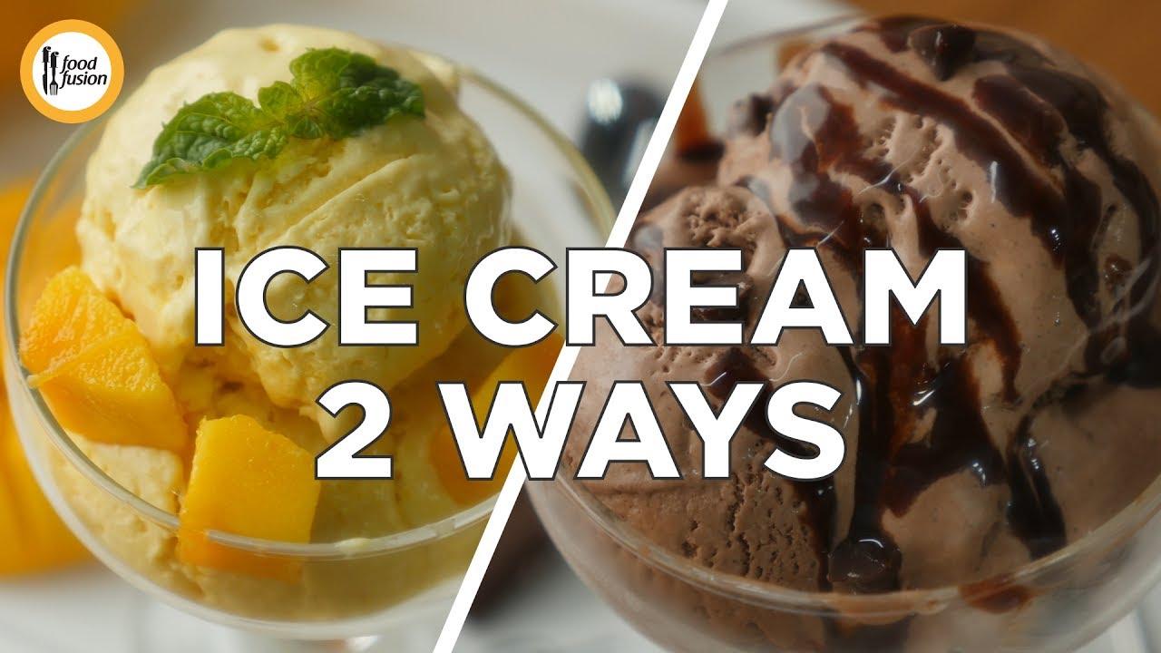 Mango Ice cream & Chocolate Ice cream recipe by Food Fusion