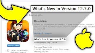 Pixel Gun 3D 12.5.0 Update On iOS?