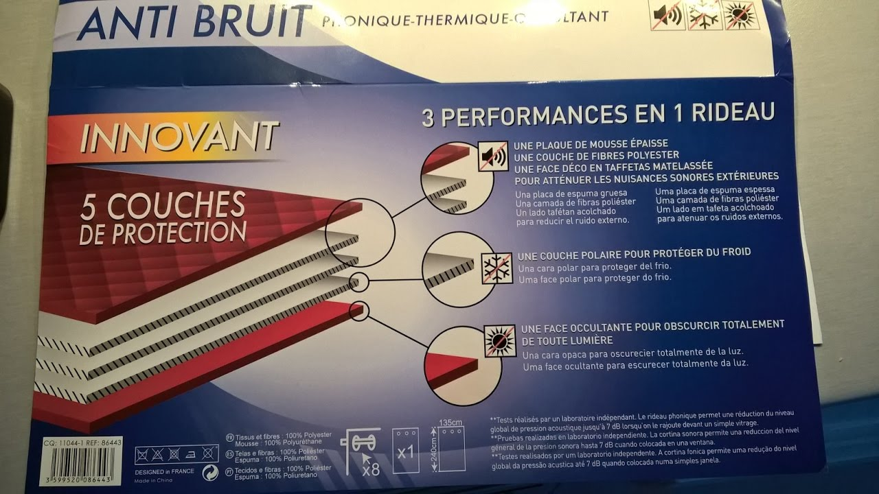 RIDEAUX ANTI-FROID - YouTube