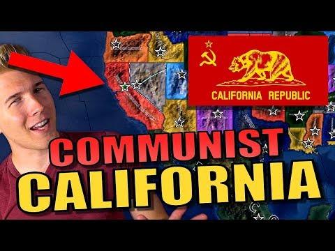 HOI4: California Communist Challenge! | Hearts of Iron 4: Gameplay [USA States Mod] |