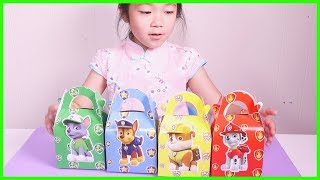 Paw Patrol Surprise Toy Lunch Boxes With Pj Masks, Tayo the Little Bus, and Peppa Pig