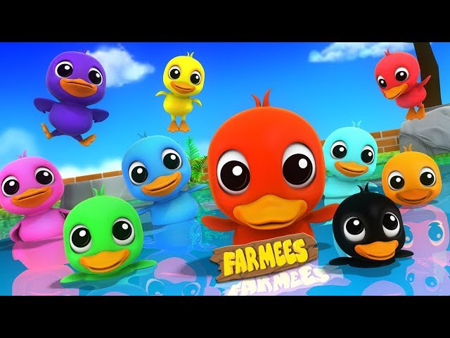 Colors With Ducks | Preschool Learning Videos by Farmees