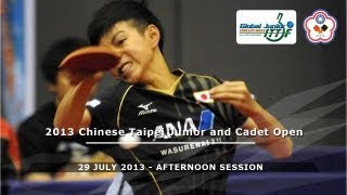 2013 Chinese Taipei Junior & Cadet Open: Final Day - Afternoon Session