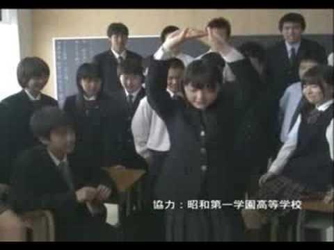 花澤香菜 カンコー学生服 CM スチル画像。CM動画を再生できます。
