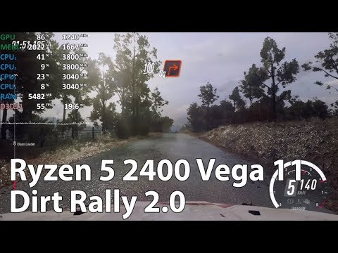 Dirt Rally 2.0 On AMD Ryzen 5 2400G Vega 11 - Gameplay Benchmark Test