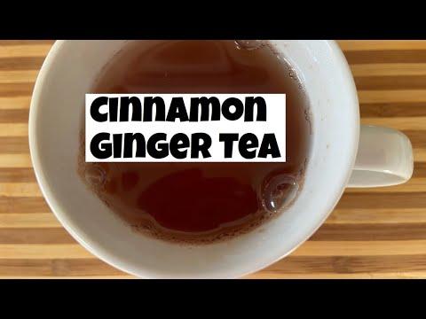 CINNAMON GINGER TEA RECIPE   How to make ginger cinnamon tea   Anti-inflammatory tea