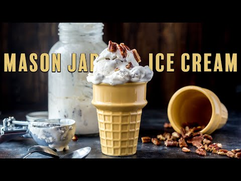 Keto Mason Jar Ice Cream | Butter Pecan