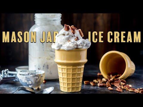 Keto Mason Jar Ice Cream | Butter Pecan